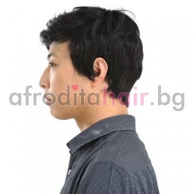 12. Мъжка перука от изкуствена коса