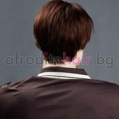 9. Мъжка перука от изкуствена коса