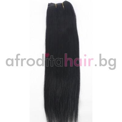 N 1: Естествена коса 45, 50 и 55 см. Широчина на тресата - 80 сантиметра.