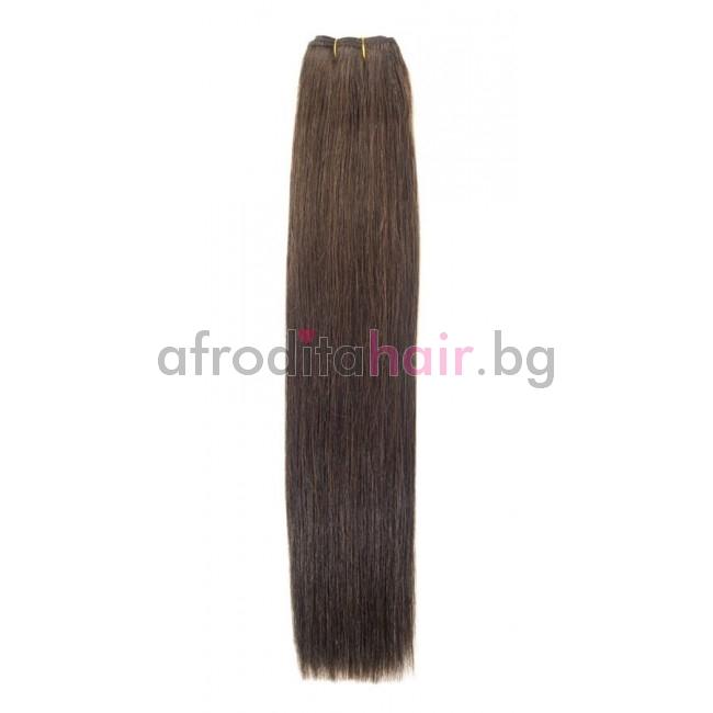 N 4: Естествена коса 45, 50 и 55 см. Широчина на тресата - 80 сантиметра.