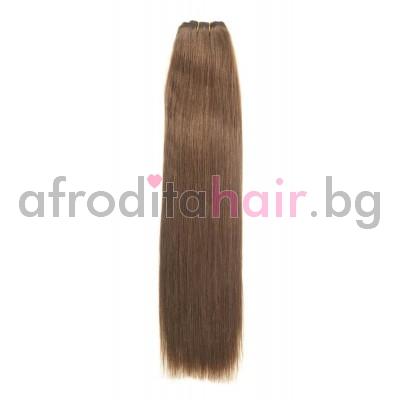 N 8: Естествена коса 45, 50 и 55 см. Широчина на тресата - 80 сантиметра.