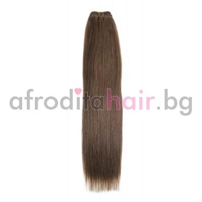 N 9: Естествена коса 45, 50 и 55 см. Широчина на тресата - 80 сантиметра.