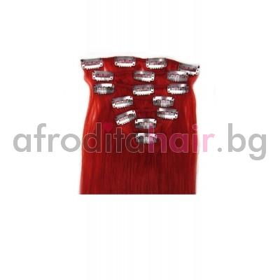 RED: Естествена коса 45, 50 и 55 см. Широчина на тресата - 80 сантиметра.