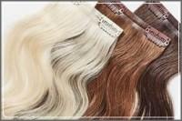 Естествени коси на клипс